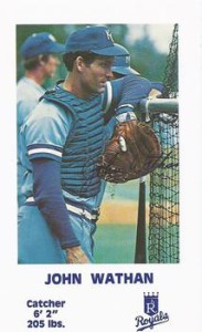 Royals catcher John Wathan