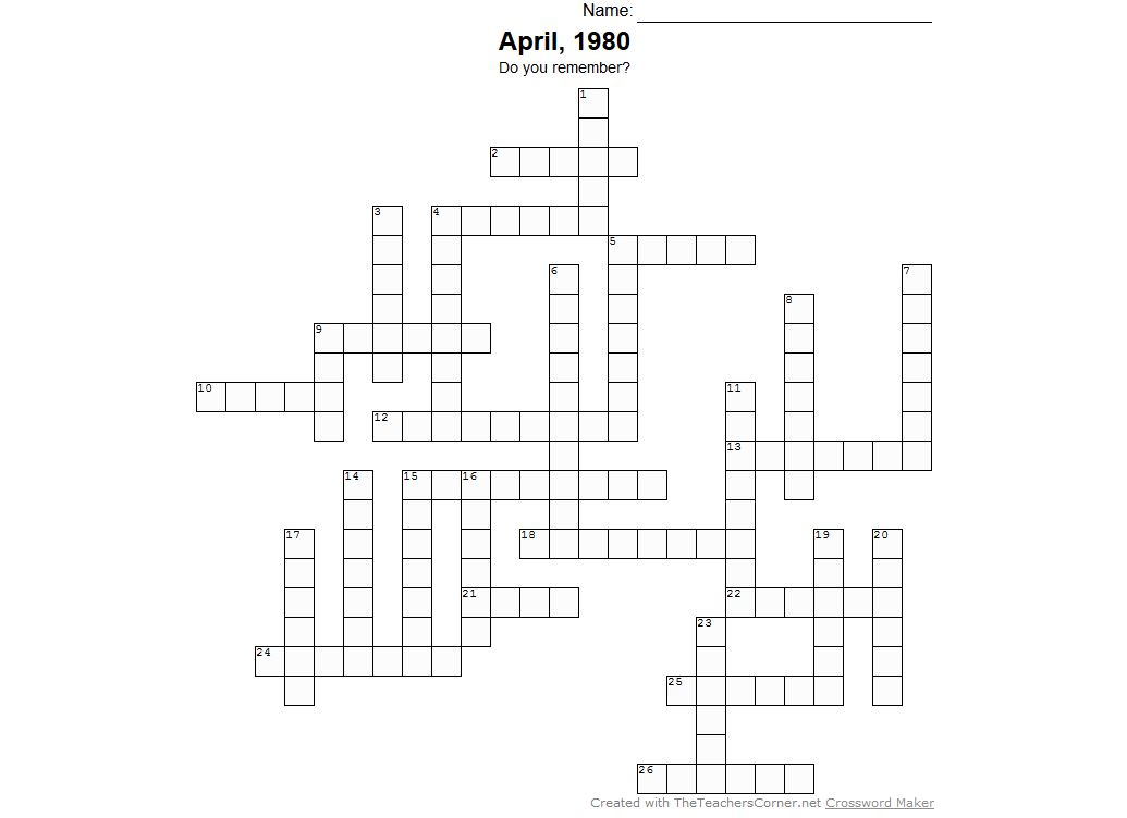 April Crossword
