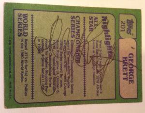 George Brett Autograph
