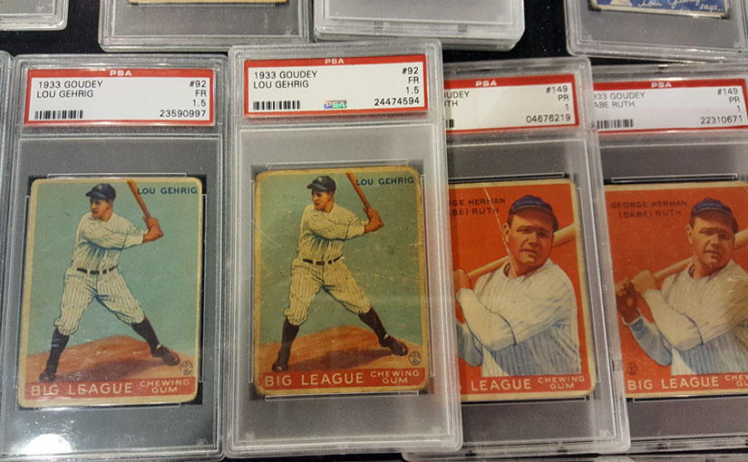 1935 Goudey Lou Gehrig & Babe Ruth